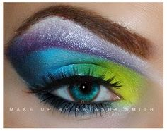 Peacock makeup look by ~PlushGlamour