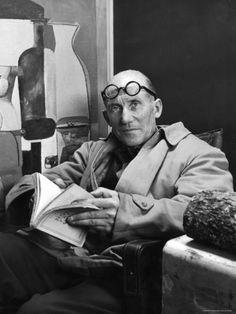Architect Le Corbusier, photo by Nina Leen