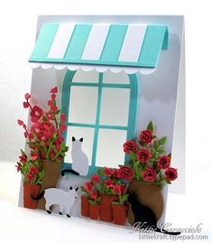 Inspired Flowers and Window by kittie747 - Cards and Paper Crafts at Splitcoaststampers
