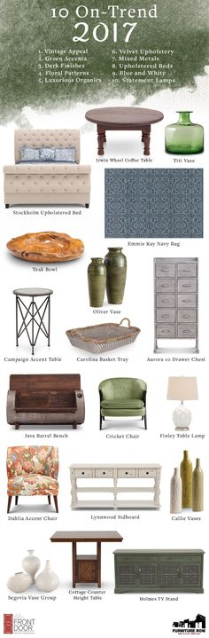 Top 10 Furniture Row Trends For 2017: Out with the old in with the new!