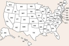free printable pages for each state including a state summary page a state flag printable and more click the letters representing each state in the map
