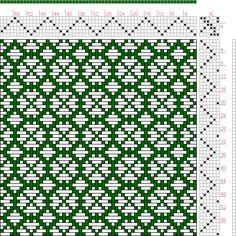 Hand Weaving Draft: Page Figure Donat, Franz Large Book of Textile… Weaving Designs, Weaving Projects, Weaving Patterns, Textile Patterns, Tablet Weaving, Weaving Art, Loom Weaving, Hand Weaving, Textiles Techniques