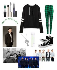 """""""St.Patricks Day/Celtic Thunder💚"""" by bobthechob ❤ liked on Polyvore featuring WearAll, MAC Cosmetics, Ilia and Converse"""