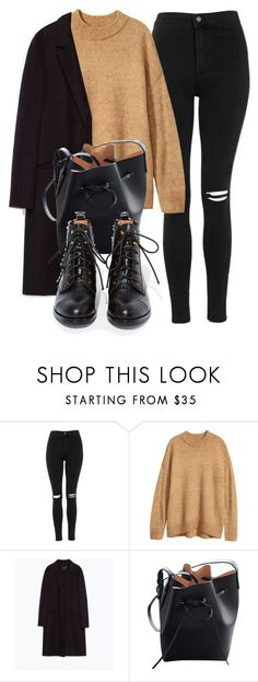 """Untitled #7008"" by laurenmboot ❤ liked on Polyvore featuring Topshop, Zara, Mansur Gavriel and Jeffrey Campbell"