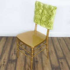 Chair Bows, Chair Sashes, Green Wedding Decorations, Green Tablecloth, Satin Ribbon Roses, Green Craft, Chiavari Chairs, Slipcovers For Chairs, Wedding Catering