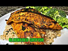 The BEST Blackened Catfish Recipe | Healthy Soul Food Recipe | Easy healthy recipes - YouTube Catfish Recipes, Cajun Recipes, Cajun Food, Easy Healthy Recipes, Easy Meals, Blackened Catfish, Tandoori Chicken, Soul Food, The Best