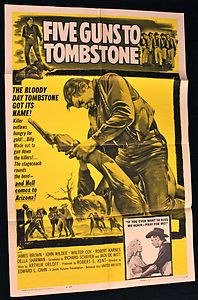 Five Guns To Tombstone original movie poster.