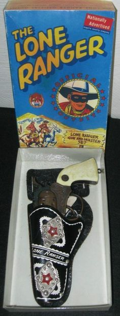 ACTOY: 1950s The Lone Ranger Gun and Holster Set #Vintage #Toys