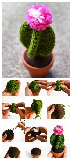 10+ Desert Cactus Amigurumi Crochet Patterns - Look Surprisingly Real -
