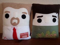 shaun of the dead, pillow, plush, cushion, novelty