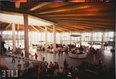The Pan Am terminal at Idlewild (now JFK) airport, seen from the Panorama Room.
