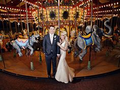 Inside Jamie Lynn Spears's Elegant New Orleans Nuptials   MERRILY EVER AFTER   Bride Jamie Lynn Spears and her new husband Jamie Watson pose in front of the carousel at the Audubon Zoo in New Orleans, before the couple of four years tied the knot in front of friends and family at the nearby Audubon Tea Room on March 14.