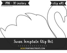 Free Swan Template - Clipart