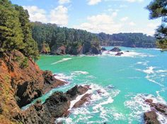Stunning view from Russian Gulch State Park in Mendocino County