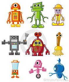 Cartoon robot icon by Notkoo2008, via Dreamstime