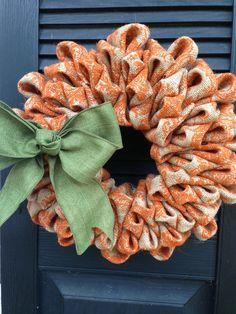 Damask Burlap Wreath