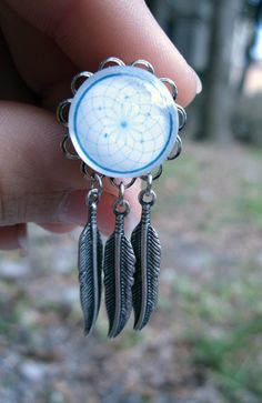Pair of Dreamcatcher Plugs w/ Feather Charms by WhimsyByKrista