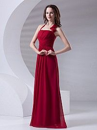 Clorinda - Halter Strap Ruched Satin Chiffon Long Sheath Possible prom dress?