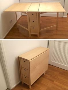 51 Ideas For Sewing Storage Ideas Small Spaces Folding Furniture, Space Saving Furniture, Wood Furniture, Furniture Design, Bedroom Furniture, Cheap Furniture, Space Saving Table, Furniture Movers, Furniture Removal