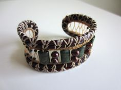 completely handmade pine needle cuff bracelet