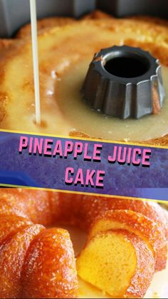 Pineapple Juice Cake I knew how much we loved the Orange Juice Cake that I shared a few weeks b Cake Mix Recipes, Pound Cake Recipes, Dessert Recipes, Triple Sec, Mojito, Orange Juice Cake, Gourmet Recipes, Cooking Recipes, Juice Recipes