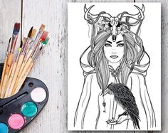 Coloring Pages for Adult . https://www.etsy.com/ru/listing/290214037/coloring-pages-for-adult-adult-coloring?ref=shop_home_active_2