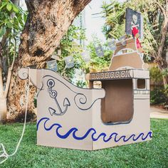 pirate cardboard ship jake and the neverland pirates party