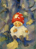 MW 27 «Kleines Pilzkind», von Mili Weber