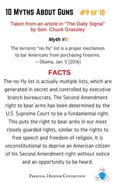 10 Myths About Guns: #9 of 10  The Second Amendment right to bear arms has been determined by the U.S. Supreme Court to be a fundamental right.