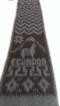 Ecuador Ethnic Wool Scarf by ENGARLAND on Etsy