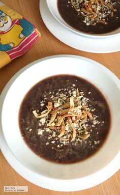 Receta de sopa de frijol negro. Con fotografías paso a paso, consejos y sugerencias de degustación. Recetas de cocina mexicana