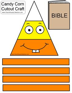Church House Collection Blog: Candy Corn Loves To Read His Bible Cutout Craft For Kids