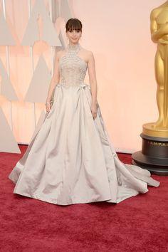 Felicity Jones from 2015 Oscars: Red Carpet Arrivals In Alexander McQueen