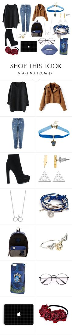"""""""Untitled #21"""" by iulianaenache526 on Polyvore featuring Topshop, Warner Bros., Casadei, Bioworld and Lime Crime"""
