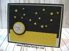 Stampin' Sisters Retreat, Going Global stamp set, Decorative Dots embossing folder, masculine cards, StampwithPeggy.com