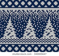 Knitted Mittens Pattern, Fair Isle Knitting Patterns, Christmas Knitting Patterns, Knitting Charts, Hand Knitting, Knitted Blankets, Knitted Hats, Christmas Charts, Fair Isle Chart