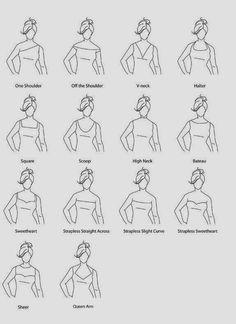 Dicas de Costura - Diferentes Decotes em Vestidos ~ LOJA SINGER PORTO