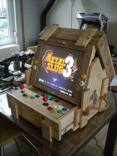 Image Arcade Diy, Arcade Bartop, Arcade Table, Retro Arcade Games, Arcade Room, Mini Arcade, Coffee Table Arcade Machine, Arcade Game Console, Diy Arcade Cabinet