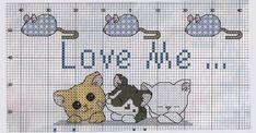 Schema punto croce Love Dog 2