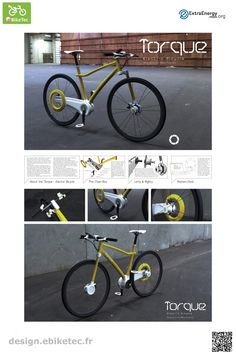 Torque Electric Bicycle name: Emil Moller Pedersen Electric Bicycle, Electric Scooter, Emil, Scooter Design, Public, Bike, Veil, Bicycles, Electric