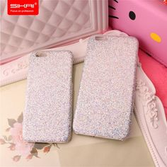 Fashion Luxury Shiny Glitter Bling Ultra Thin Pink PC Case Shockproof Hard Skin Shell Mobile Phone Case for iPhone 6s 6plus