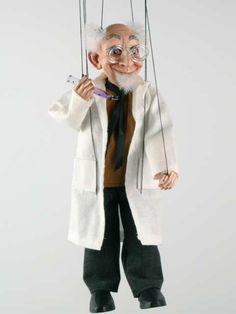 Scientist ,marionette puppet, marionette
