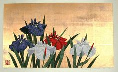 Sugiura Kazutoshi: Iris No 75 — 花菖蒲 No 75 - Japanese Art Open Database