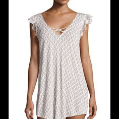 Sleep tunic by eberjey Sleep tunic by eberjey. Cute she'll pattern also makes a great swim cover. Size large. Eberjey Intimates & Sleepwear Chemises & Slips