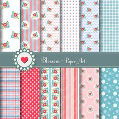 Printables Papers - Papercrafts, decorations, decoupage, baby showers, scrapbooking