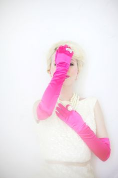 Pink Gloves On Marilyn Monroe