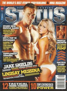 Status magazine Jake Shields Lindsay Messina Muscle growth UFC top 10 physiques