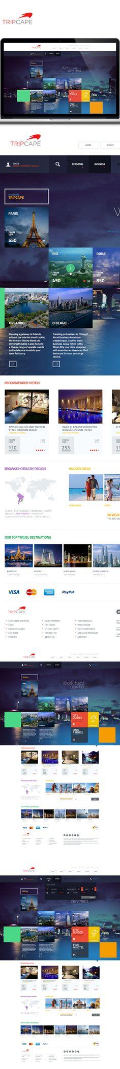 Tripcape on Behance #ui #mobile #design #ResponsiveDesign #Web #UI #UX #WordPress #Resposive Design #Website #Graphics