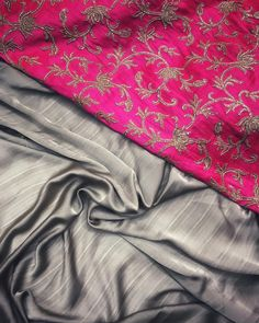 Steel grey satin georgette Saree with pink blouse To purchase this product mail us at houseof2@live.com  or whatsapp us on +919833411702 for further detail #sari #saree #sarees #sareeday #sareelove #sequin #silver #traditional #ThePhotoDiary #traditionalwear #india #indian #instagood #indianwear #indooutfits #lacenet #fashion #fashion #fashionblogger #print #houseof2 #indianbride #indianwedding #indianfashion #bride #indianfashionblogger #indianstyle #indianfashion #banarasi #banarasisaree