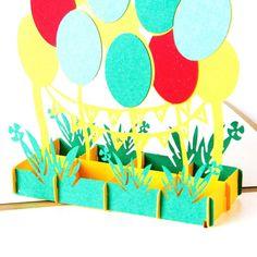 Birthday Balloons 3D Pop Up Card
